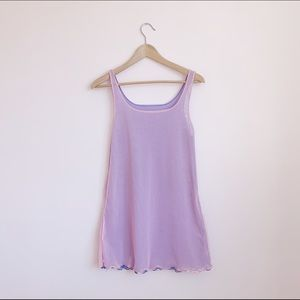 reversible pink/purple mesh tank dress